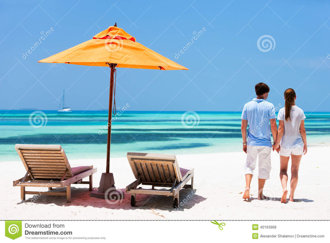 Couple at tropical beach stock photo image 40163968 for Tropical vacations for couples
