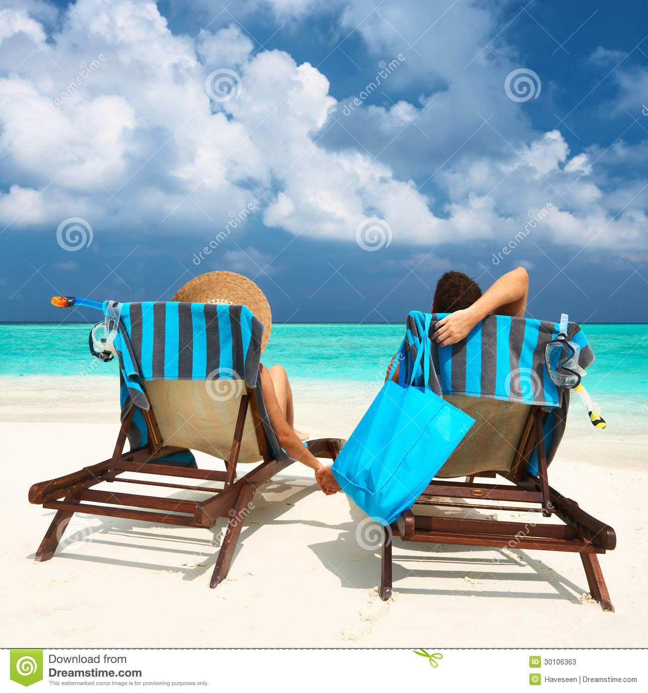 Couple on a beach stock photos image 30106363 for Tropical vacations for couples
