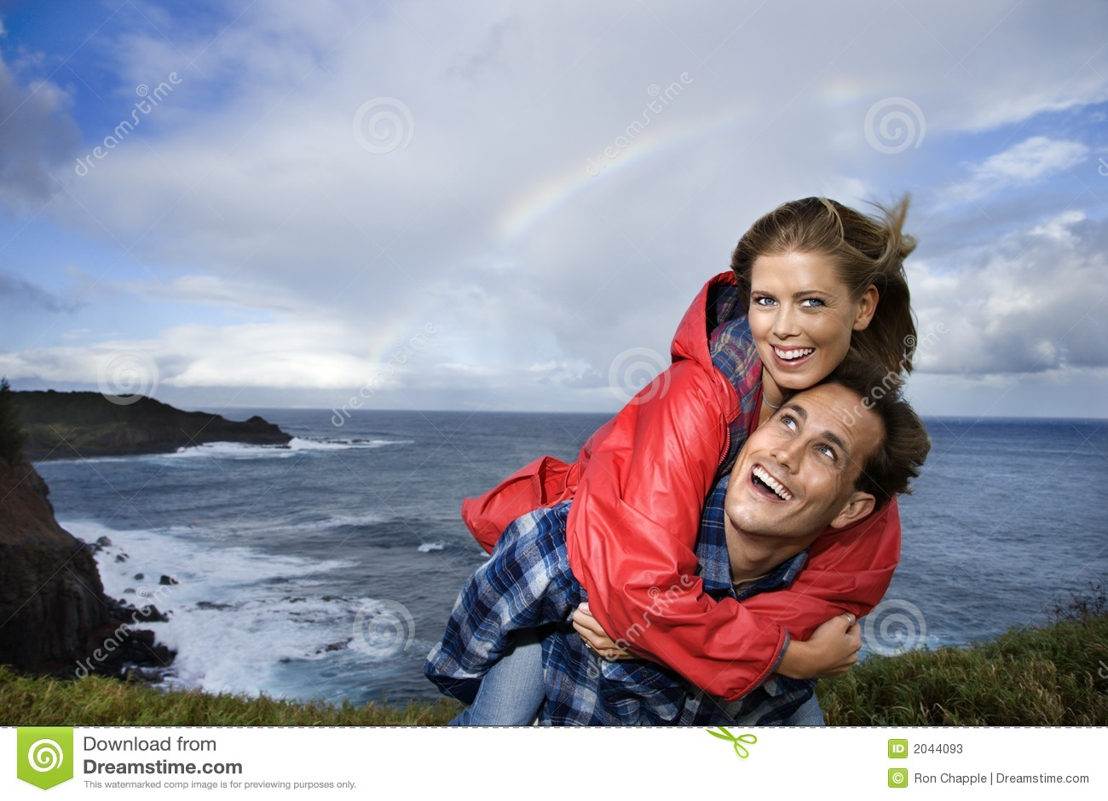 Couple vacationing in Maui, Hawaii.
