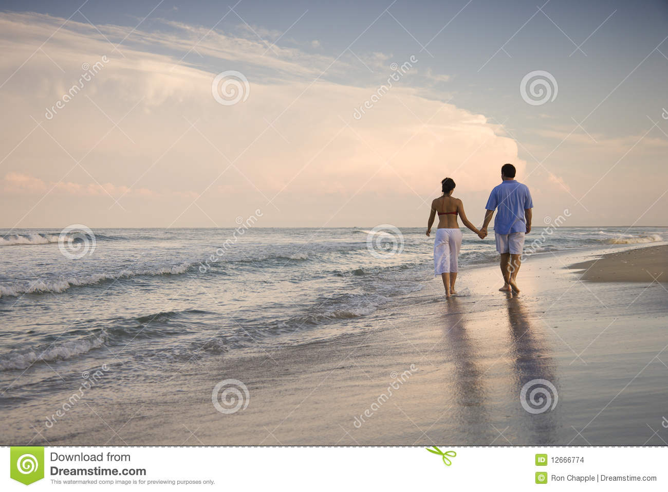 couple walking on beach stock photo image of adults 12666774