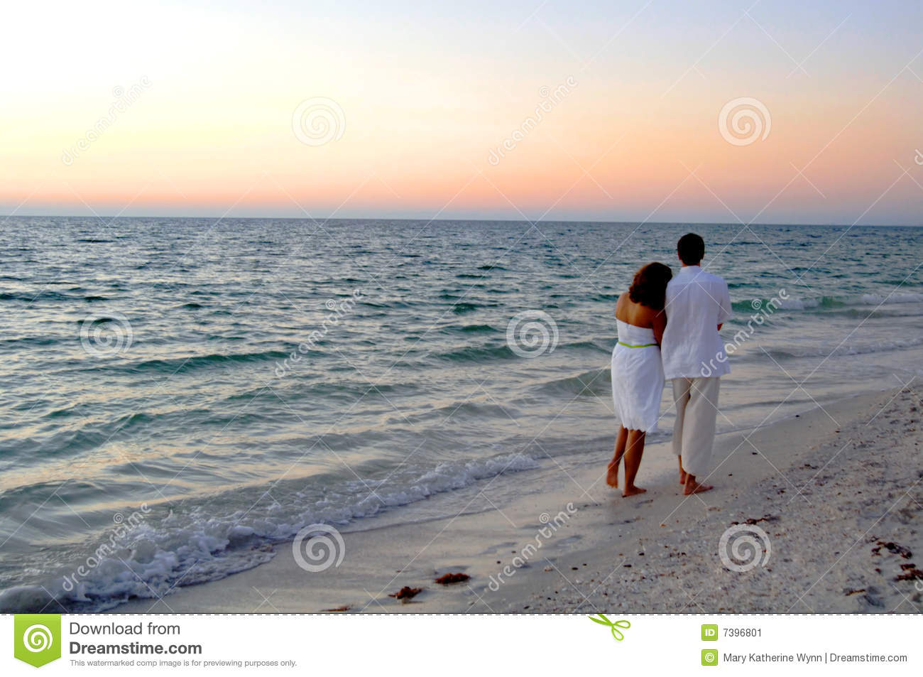 couple walking on beach at sunset stock image image of destination