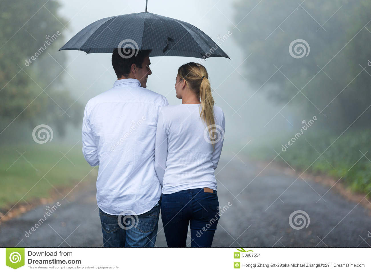 Couple walking rain stock photo. Image of handsome, lovely ...