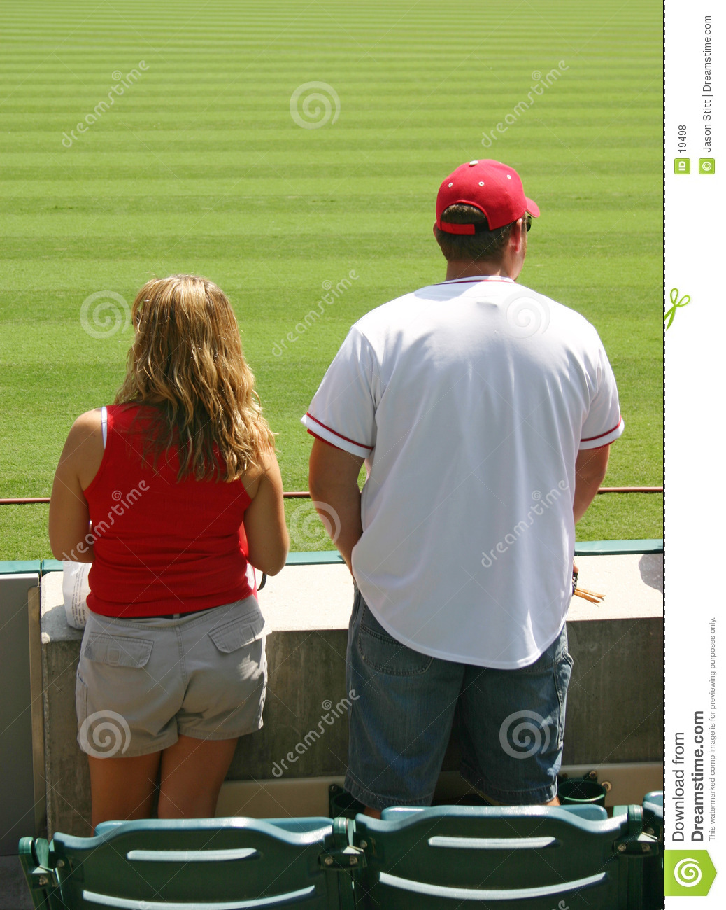 Couple Watching Game