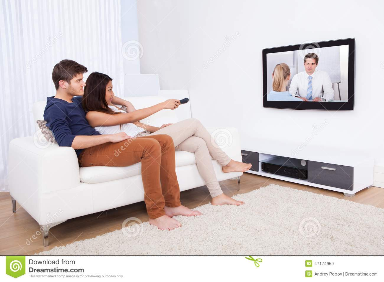 sitting in living room tv in living room stock image image of 14576