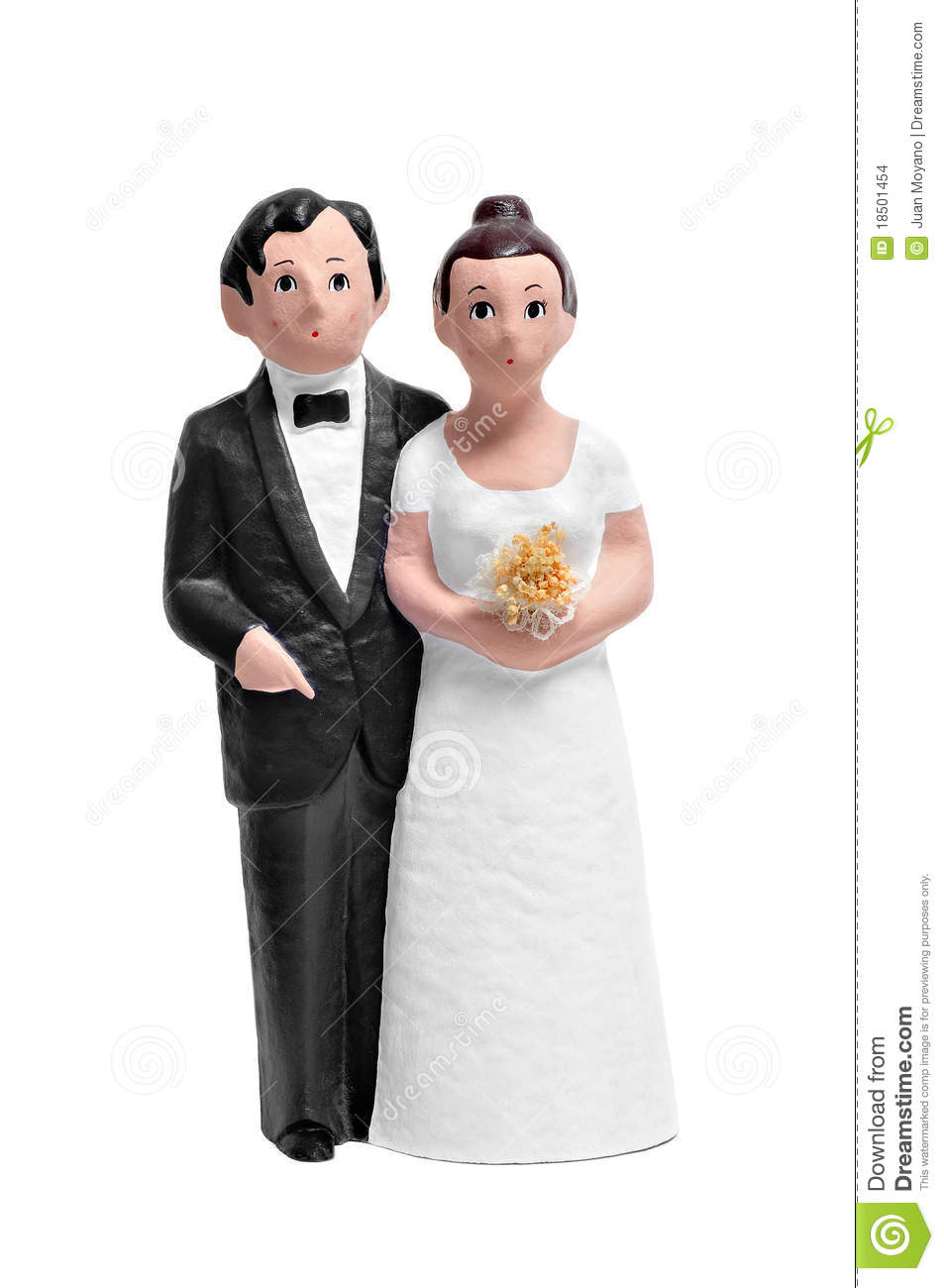 Couple Wedding Cake Topper Stock Photo Image Of Puppet 18501454