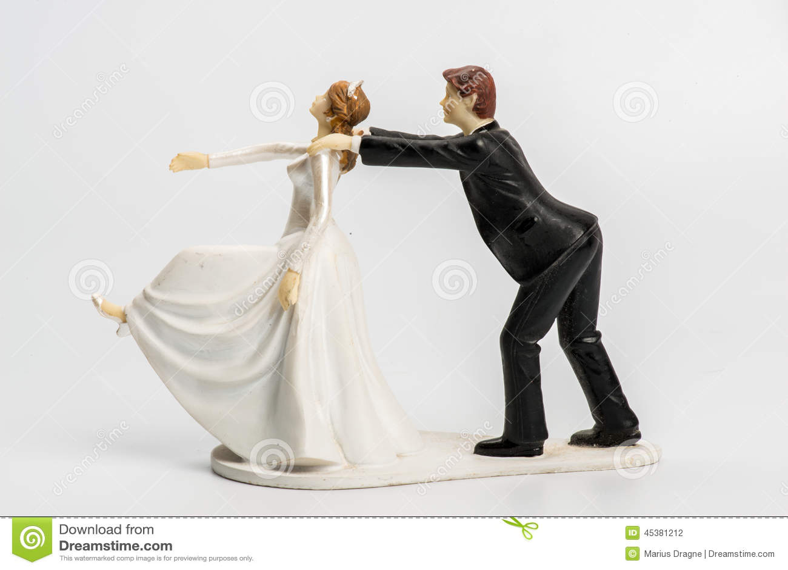 stock images couple wedding cake topper image wedding cake topper Couple wedding cake topper isolated Stock Photography