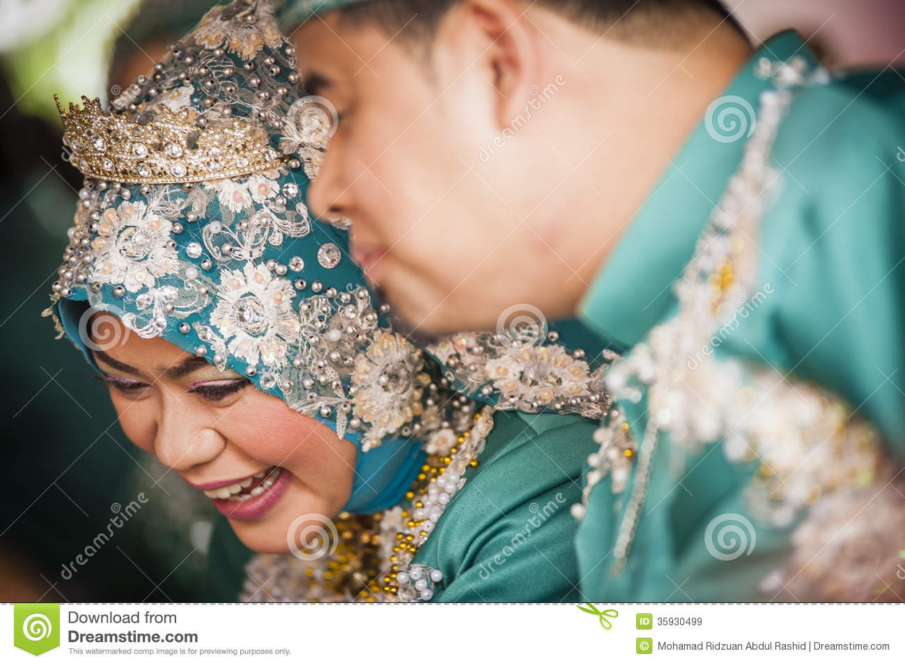 Couple on wedding day