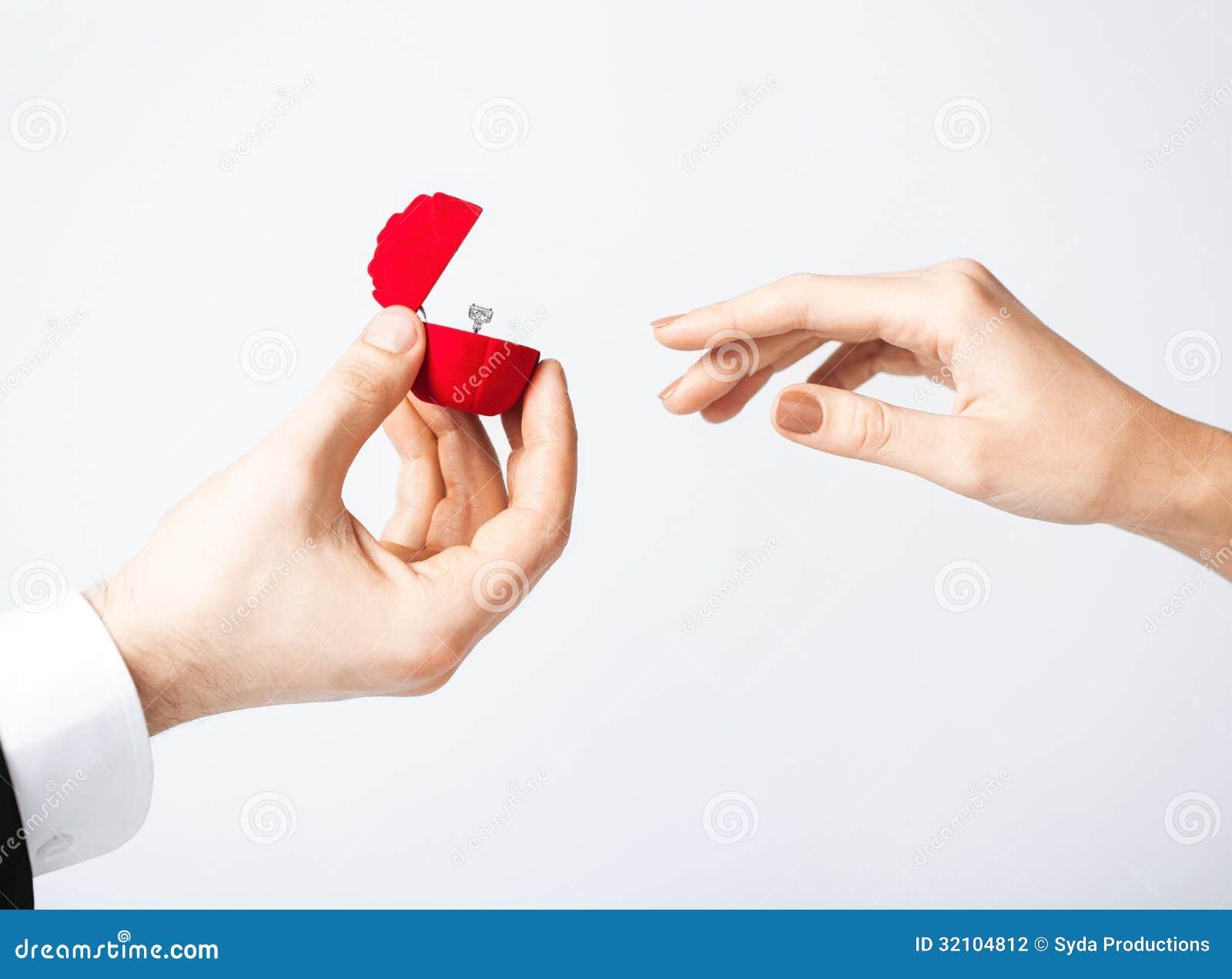 Holding Wedding Ring In Box