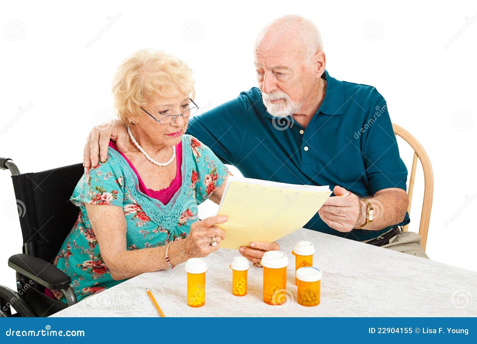 Couples aînés - factures médicales