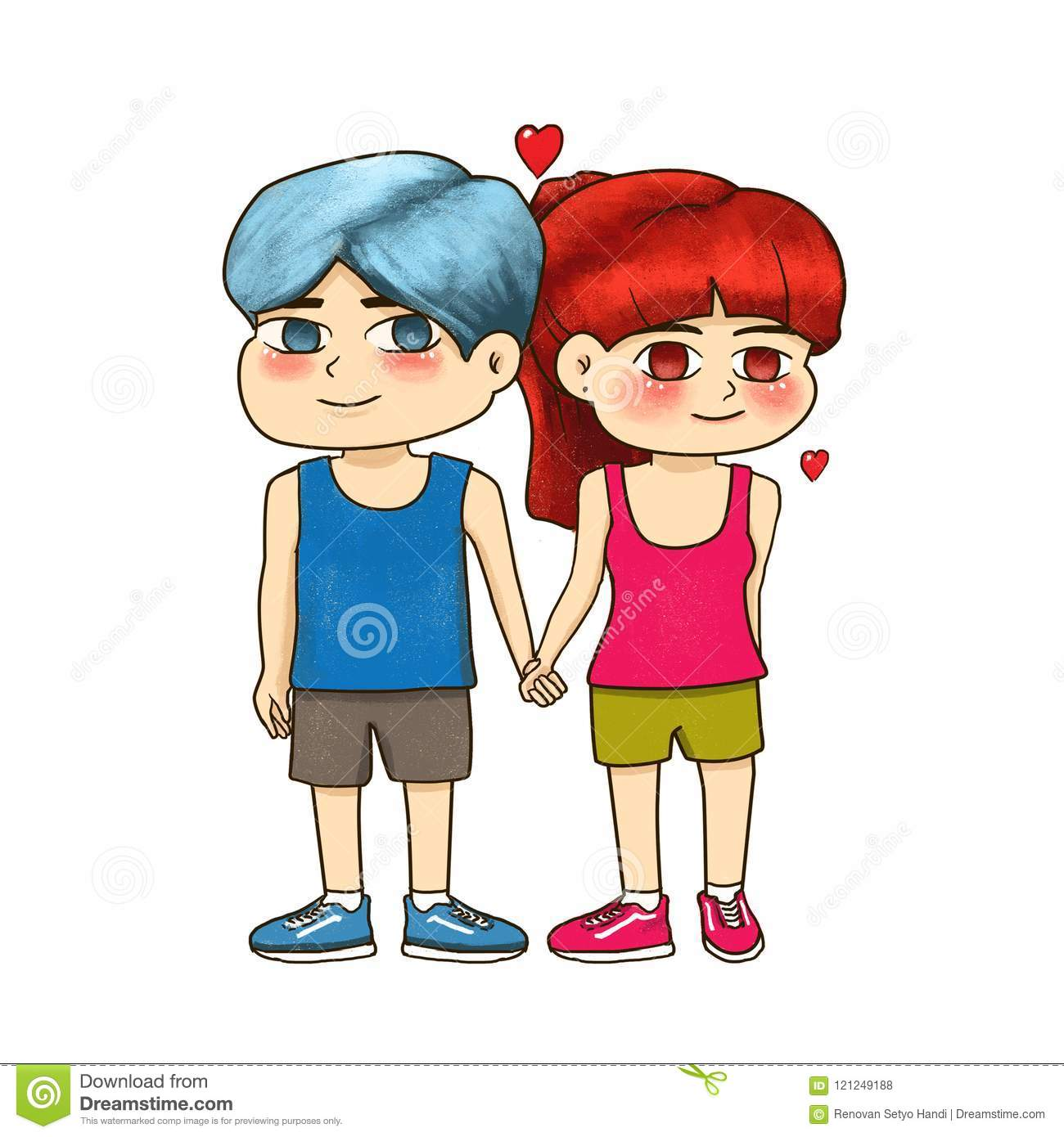 Couples Boy And Girl Have Time Together With Full Love Stock
