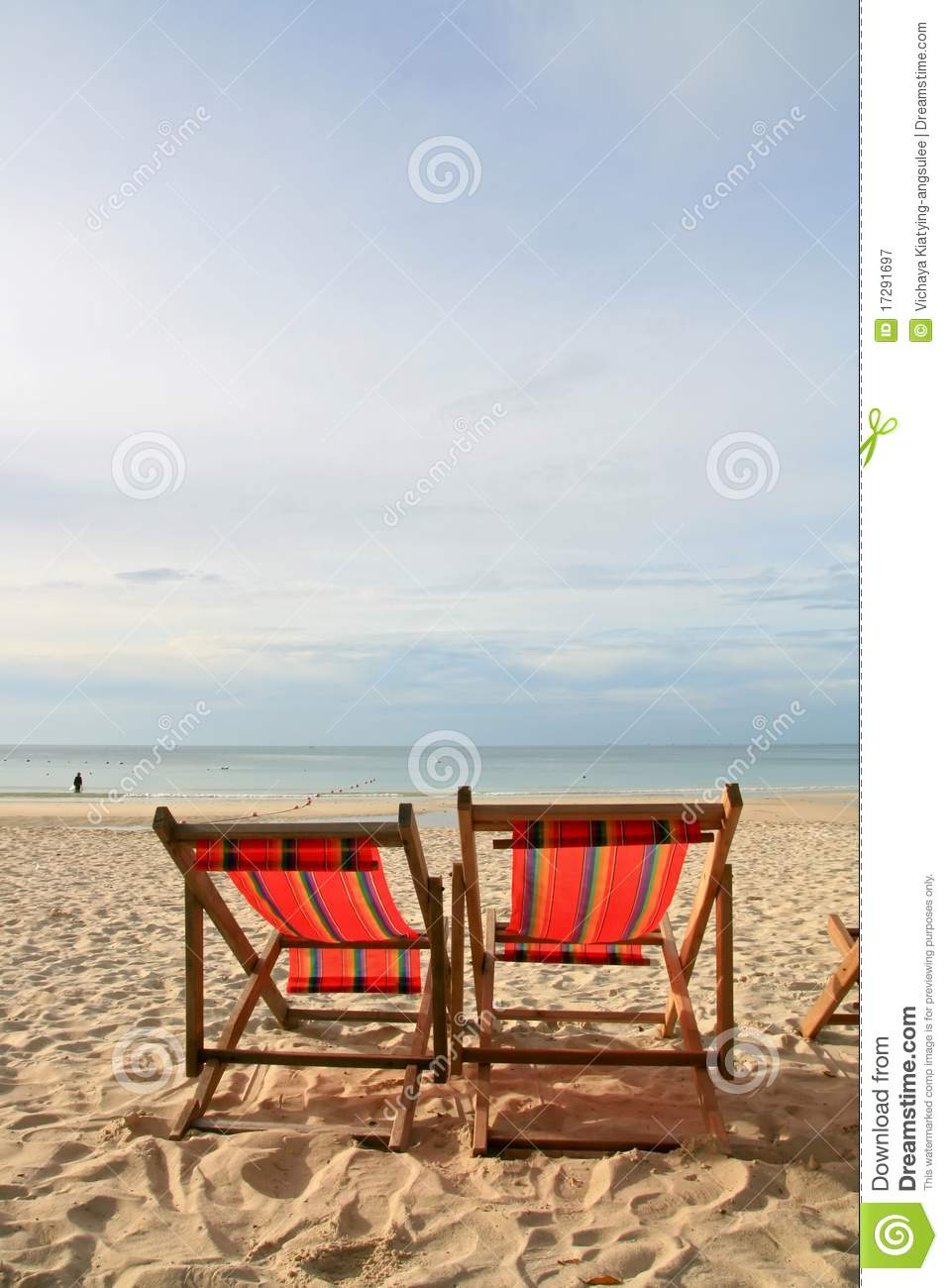 Couples chairs beach on the beach