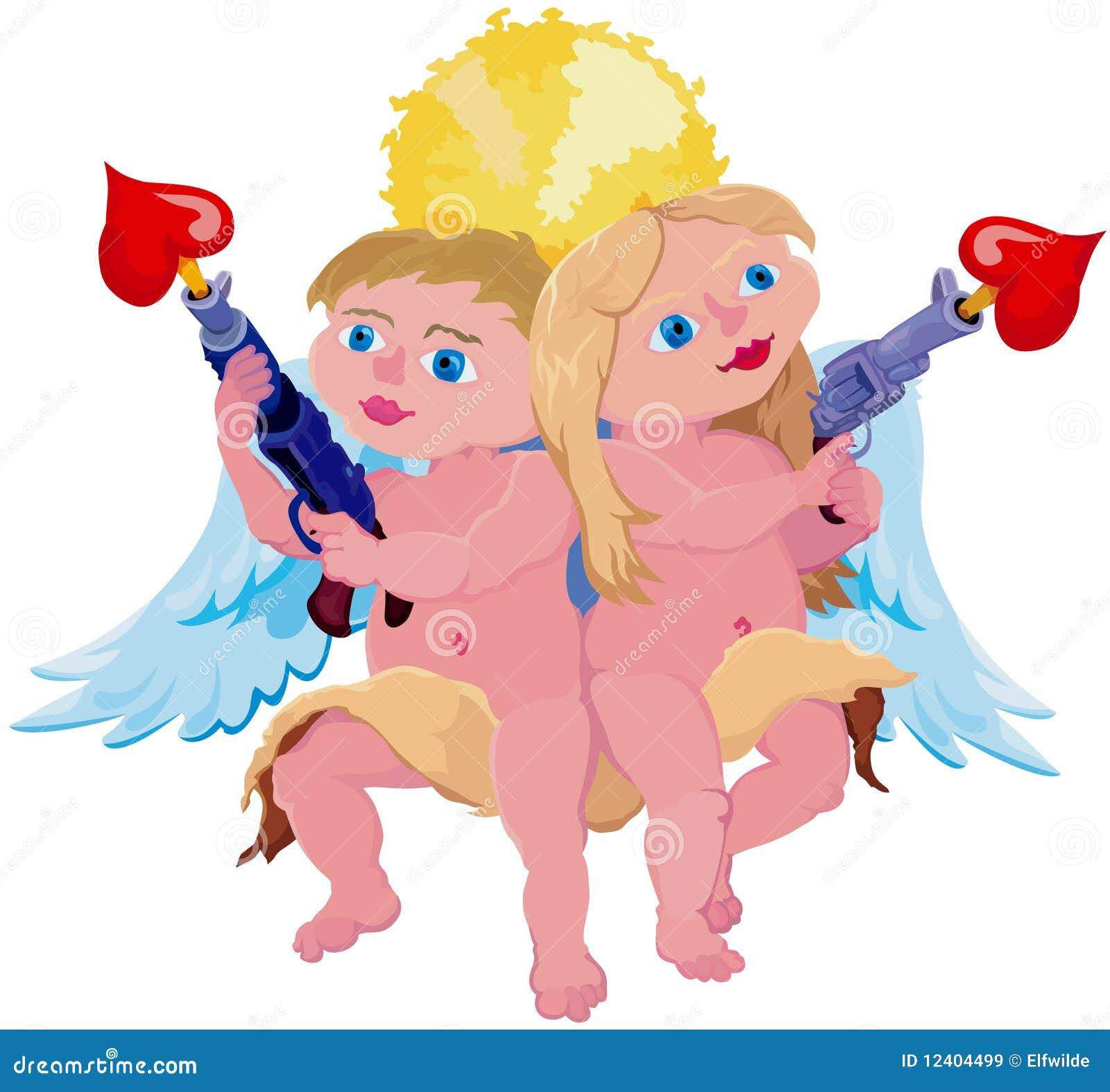 Couples comiques de cupidon images libres de droits image 12404499 - Image de cupidon gratuite ...