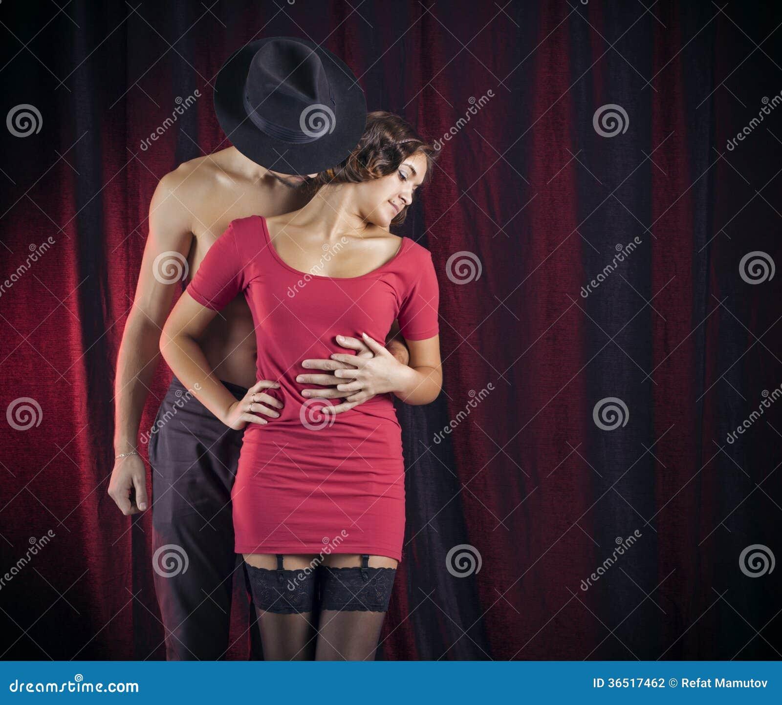 Couples d amour dans le rétro style.