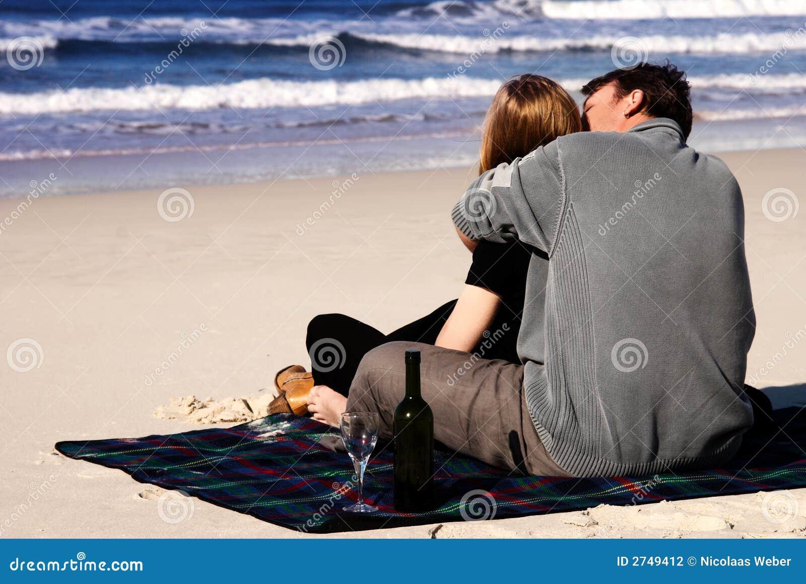 image amour a la plage