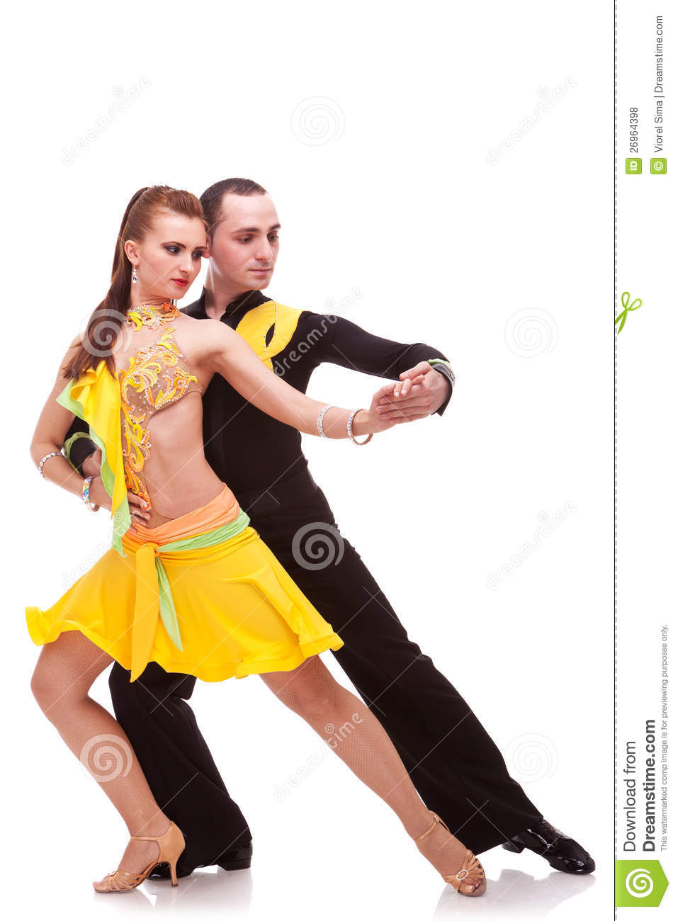 couples de danse de salsa dans la salle de bal photo stock image 26964398. Black Bedroom Furniture Sets. Home Design Ideas