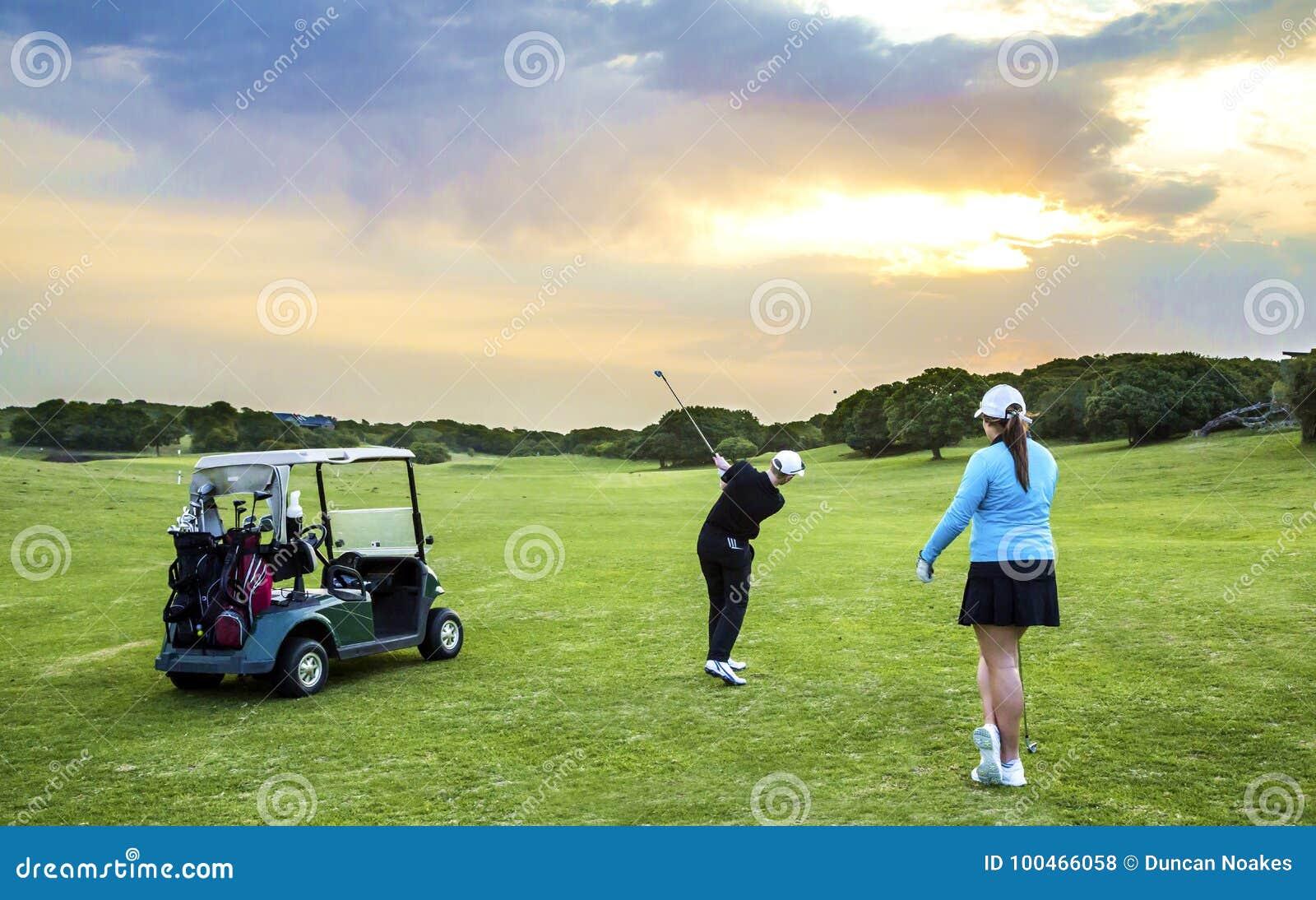 Couples de golf de fairway