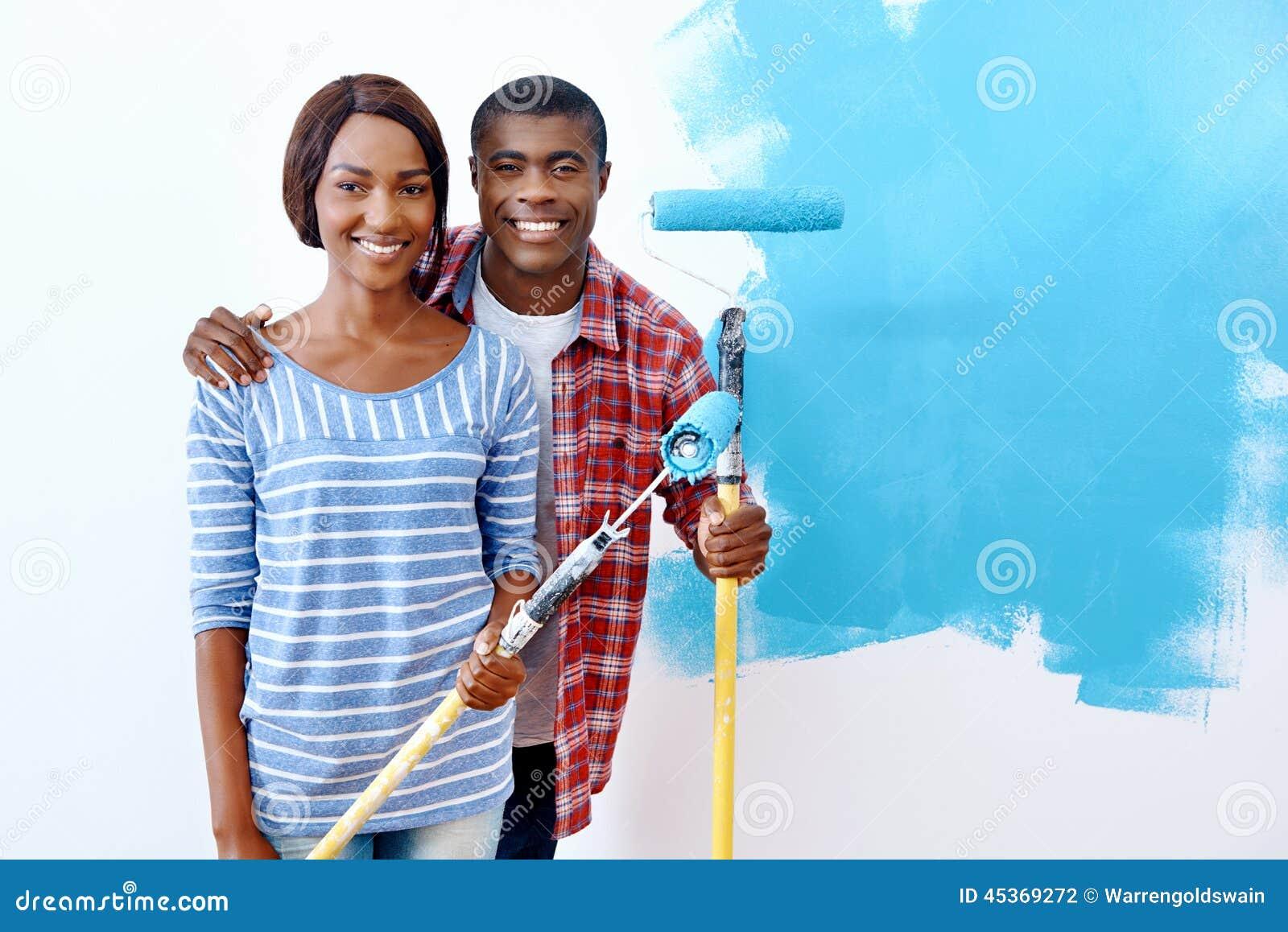 Couples de maison de peinture