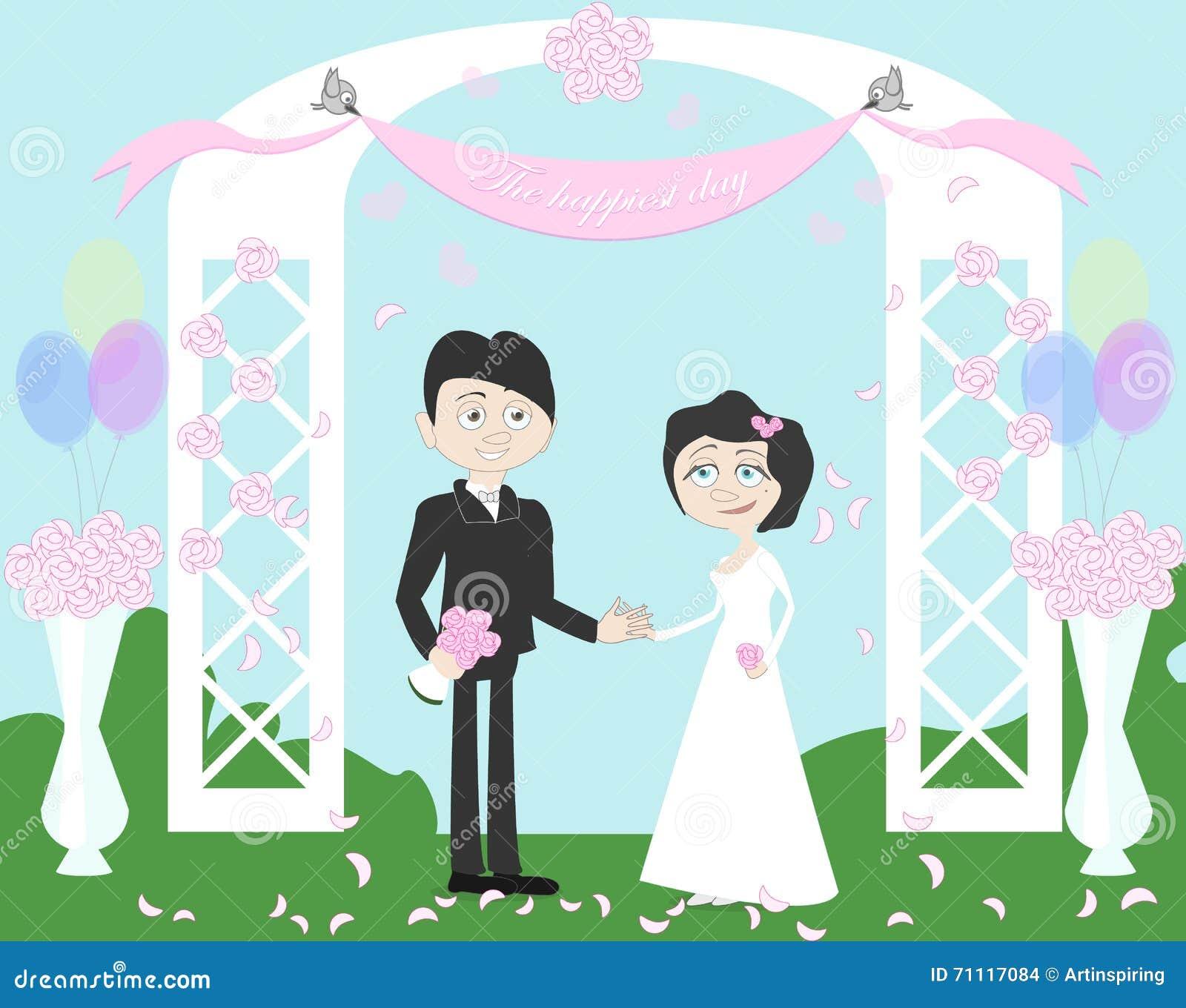 Couples de mariage dans l arcade
