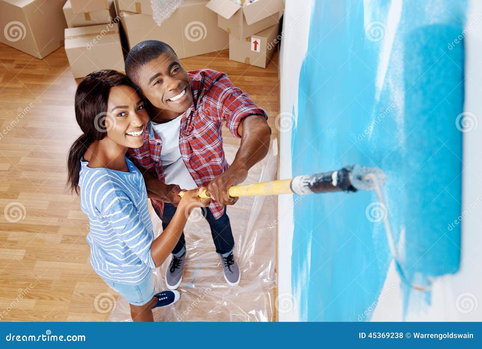 Couples de mur de peinture