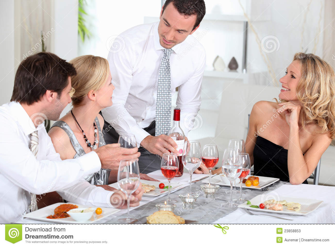 Couples At Dinner Stock Photos Image 23858853
