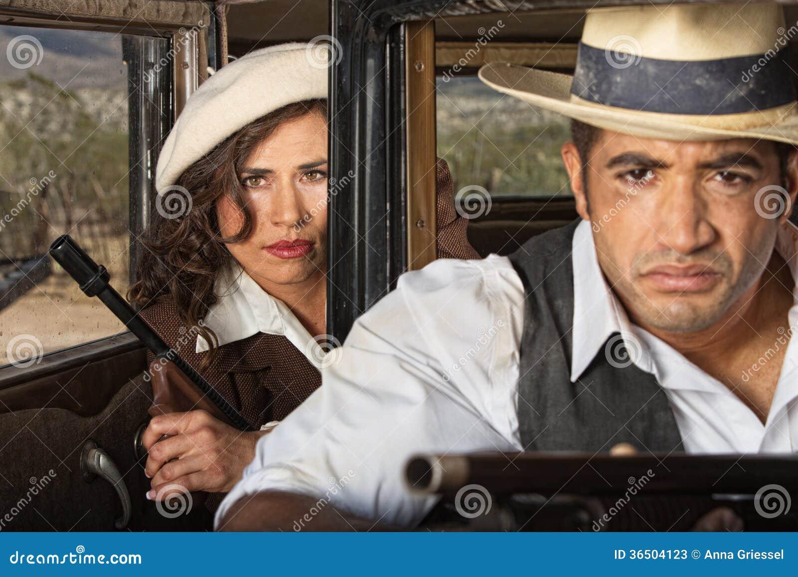 Couples durs de bandit des années 1920