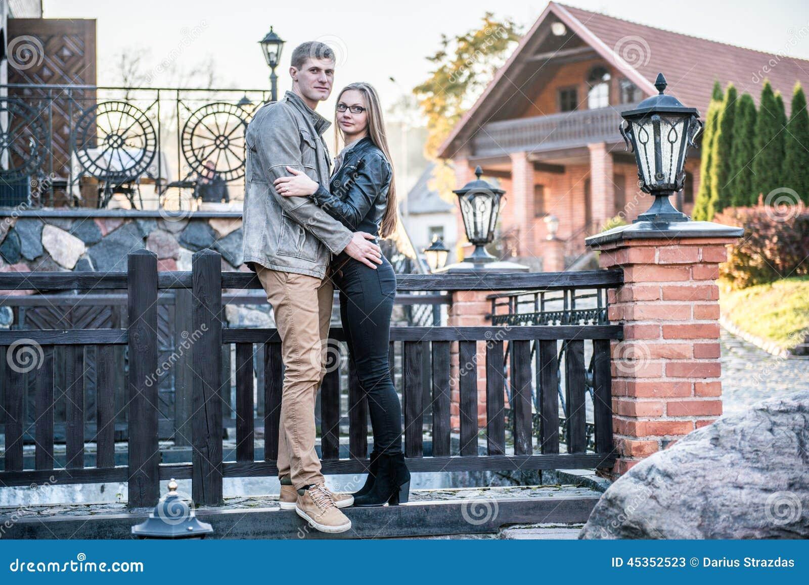 Couples en parc de vintage