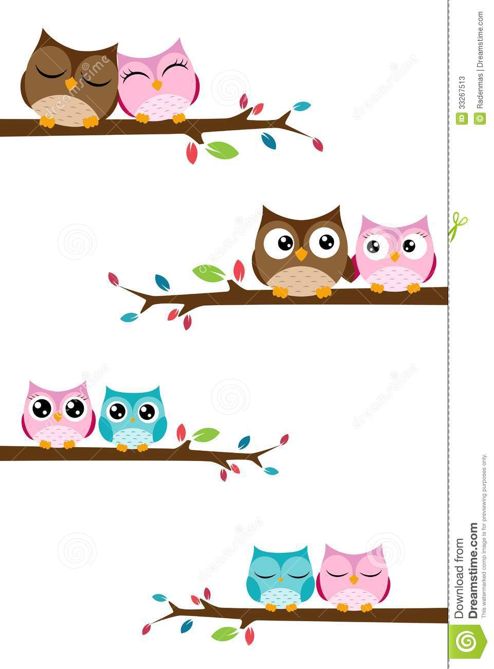 Couples Owl On The Branch Stock Photos Image 33267513