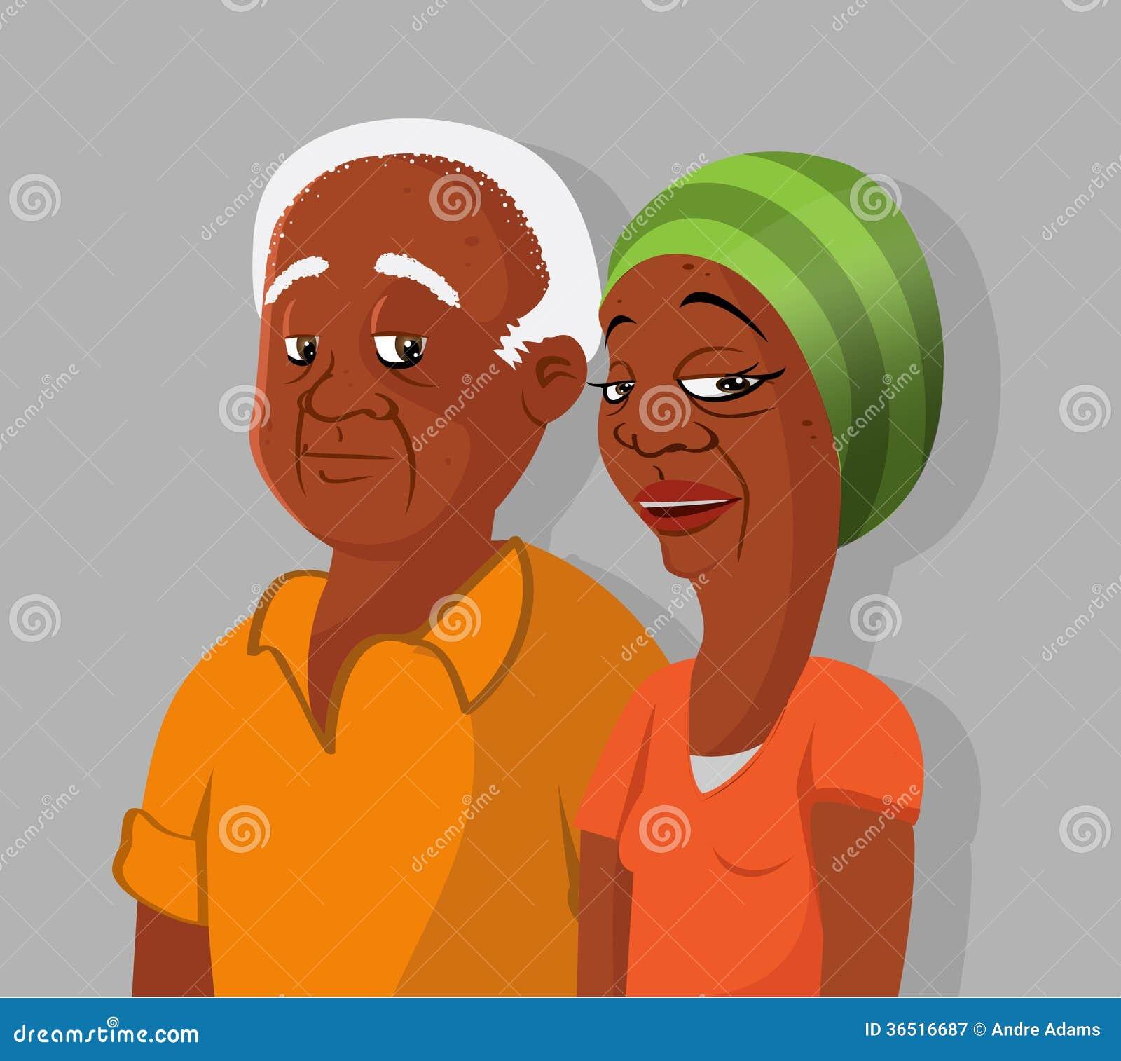 Couples pluss âgé noirs
