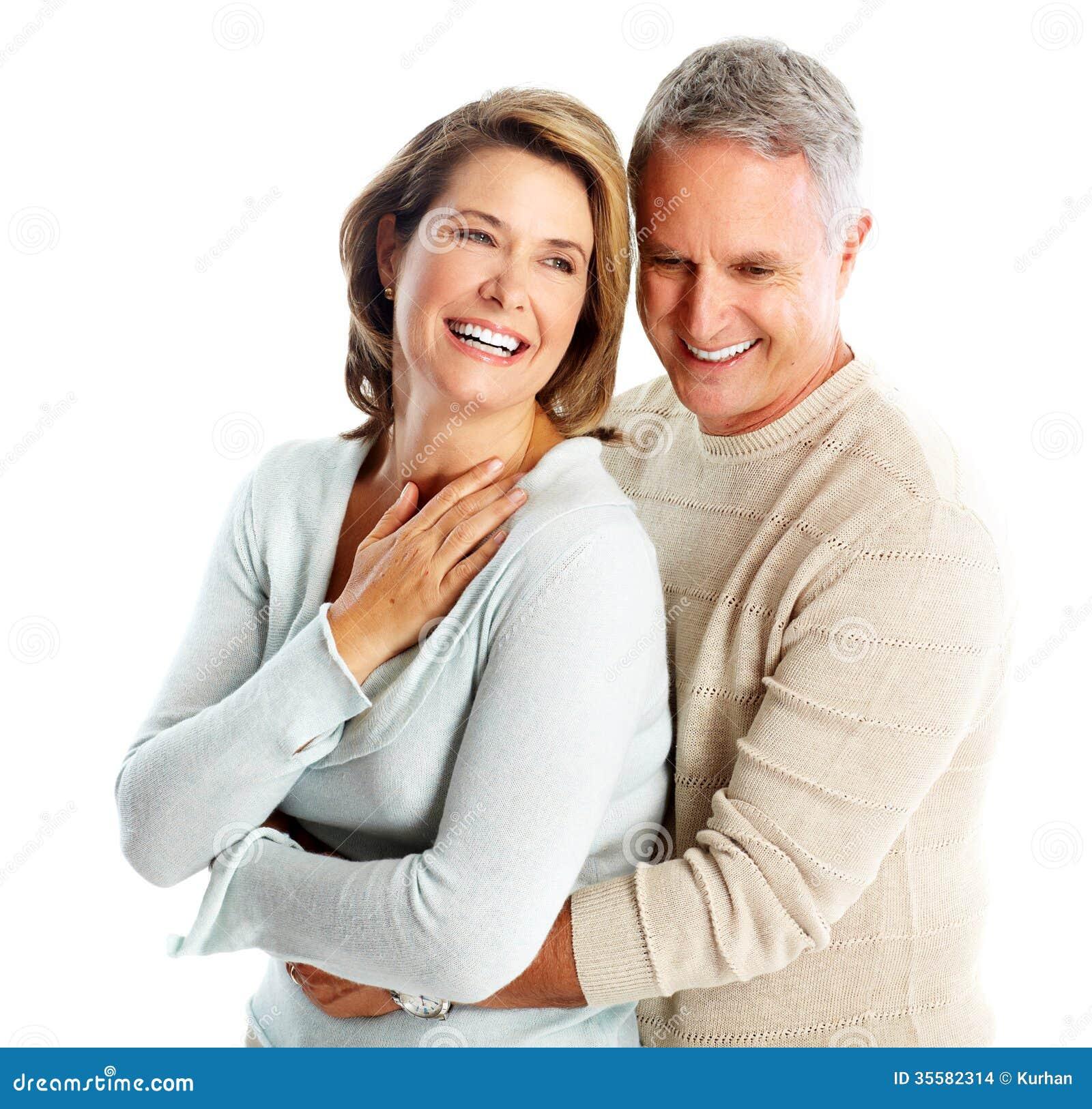 Couples supérieurs heureux dans l amour.