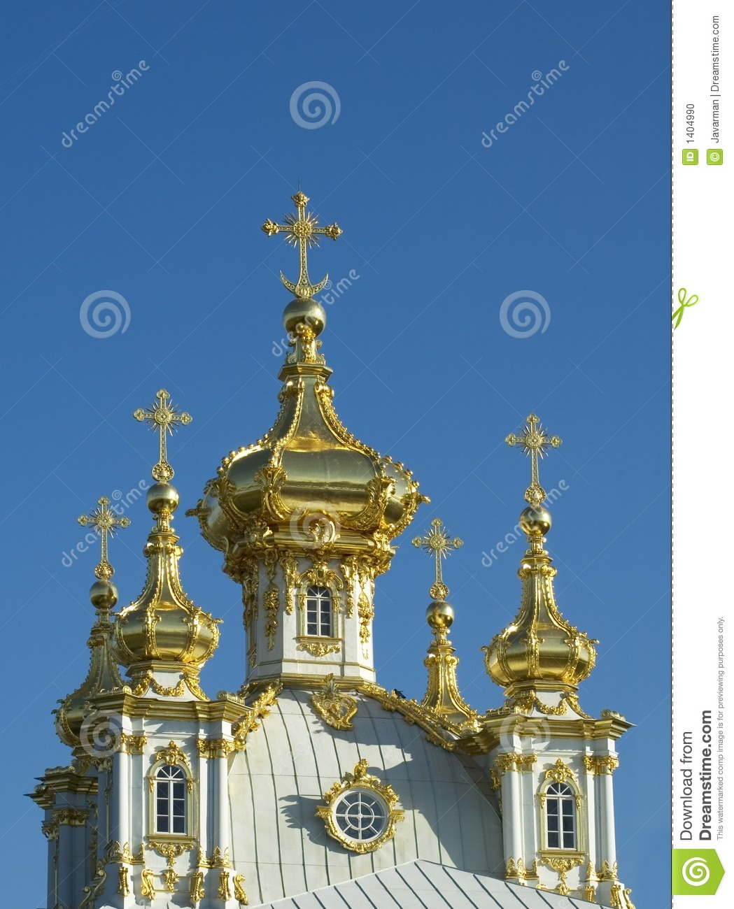 Coupoles d or de l église russe