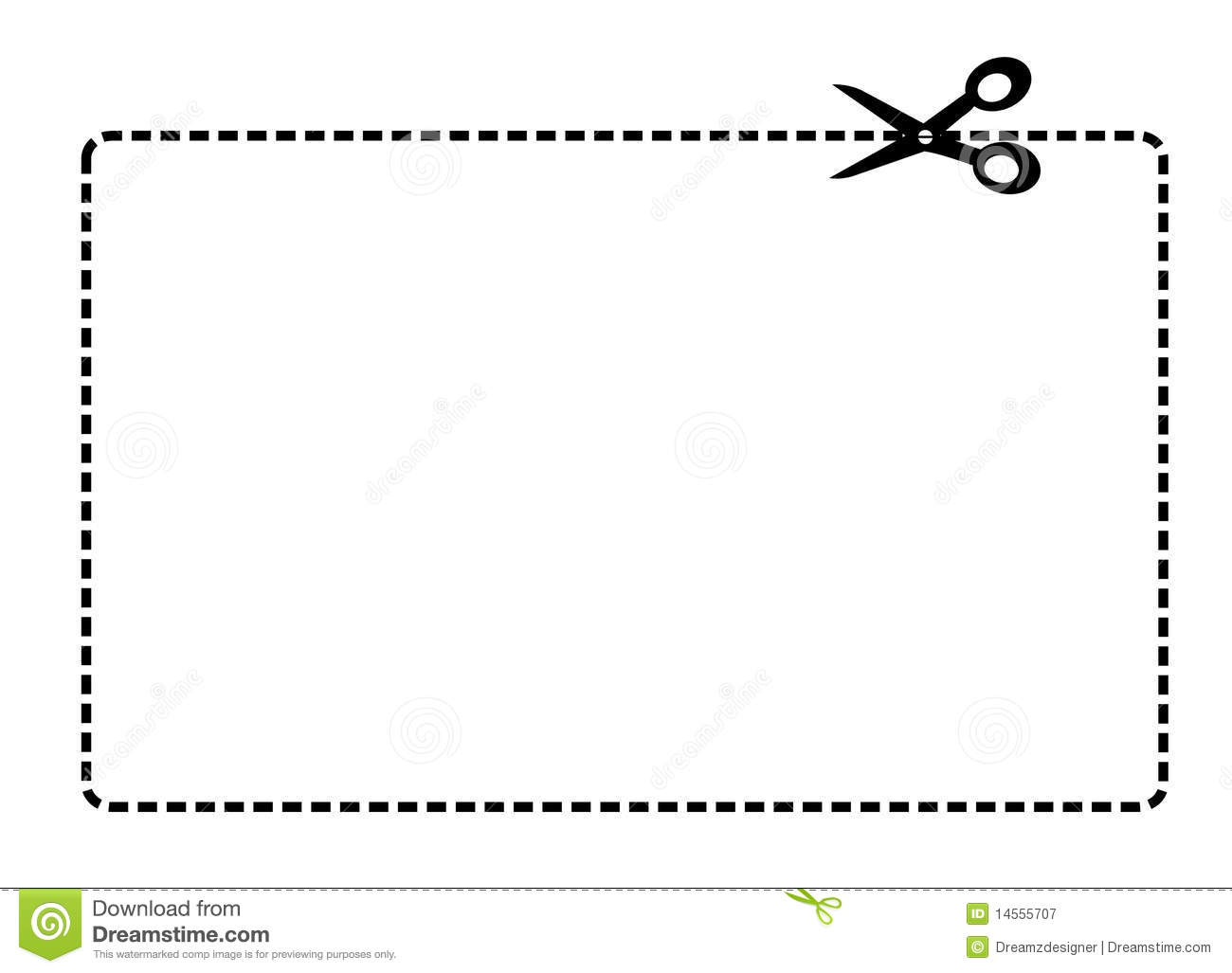 Coupon Border Vector Royalty Free Stock Photography