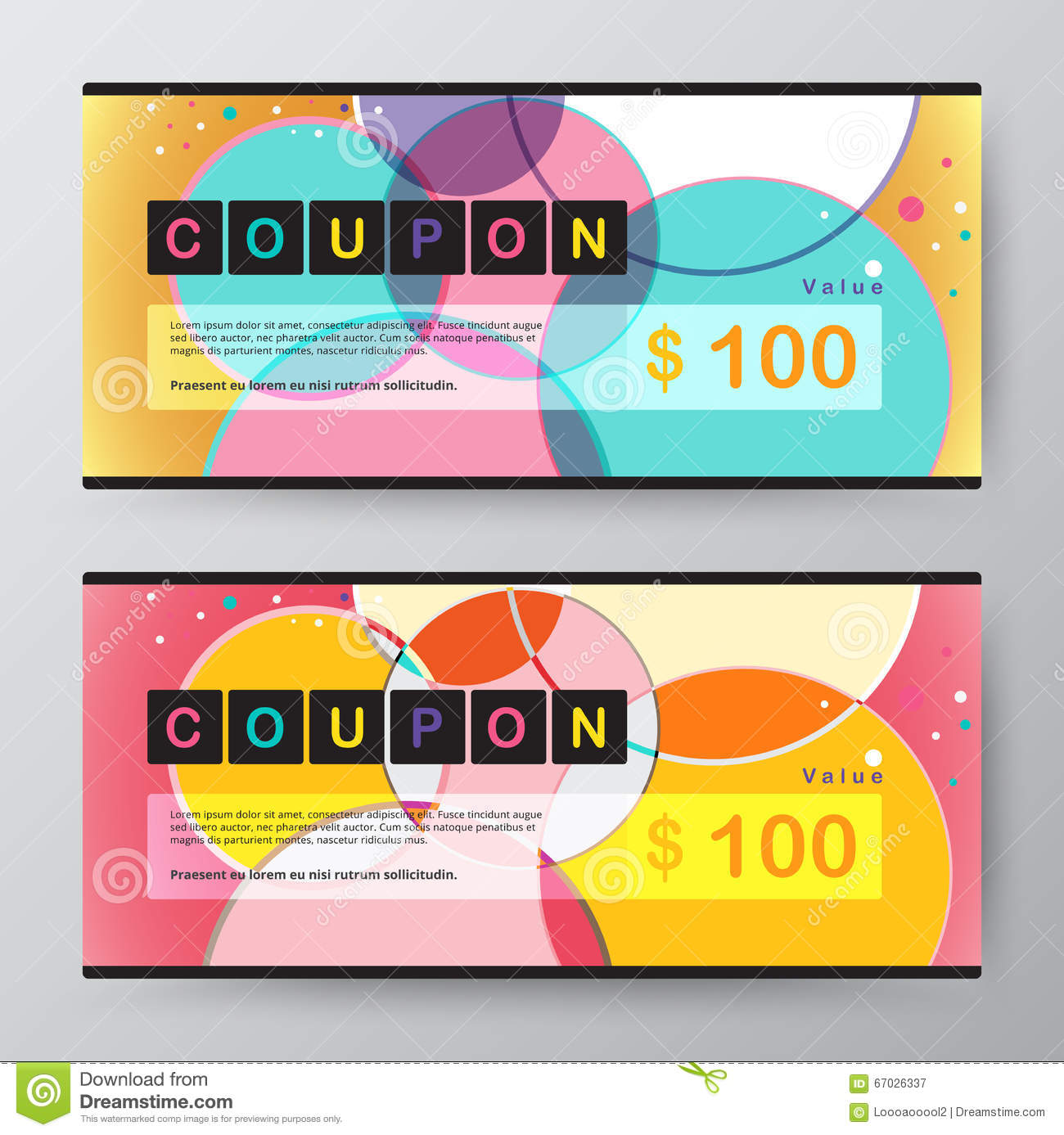 Coupon Card Template. Promotion Card. Vector Stock. Stock Vector ...