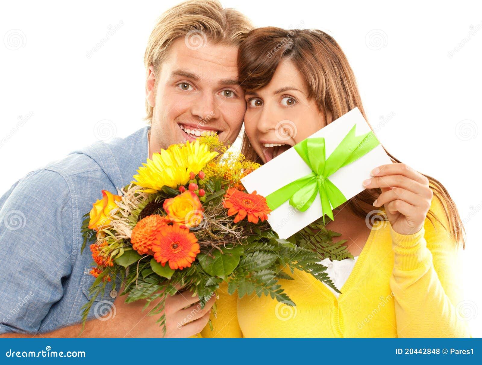 Coupon en bloemen