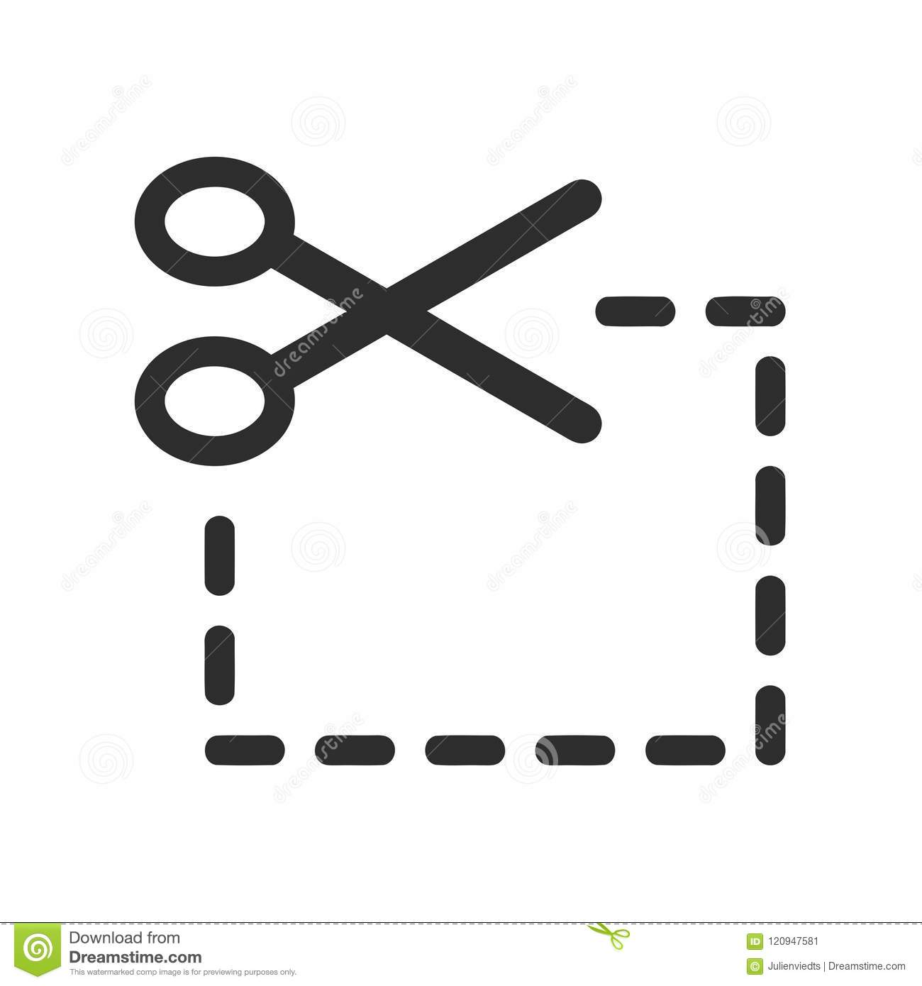 Coupon Icon Scissor Symbol Coupon Cutting Sign Stock Vector