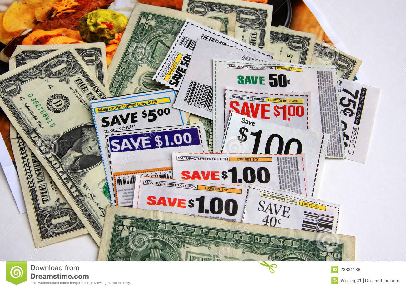 Coupons and dollars