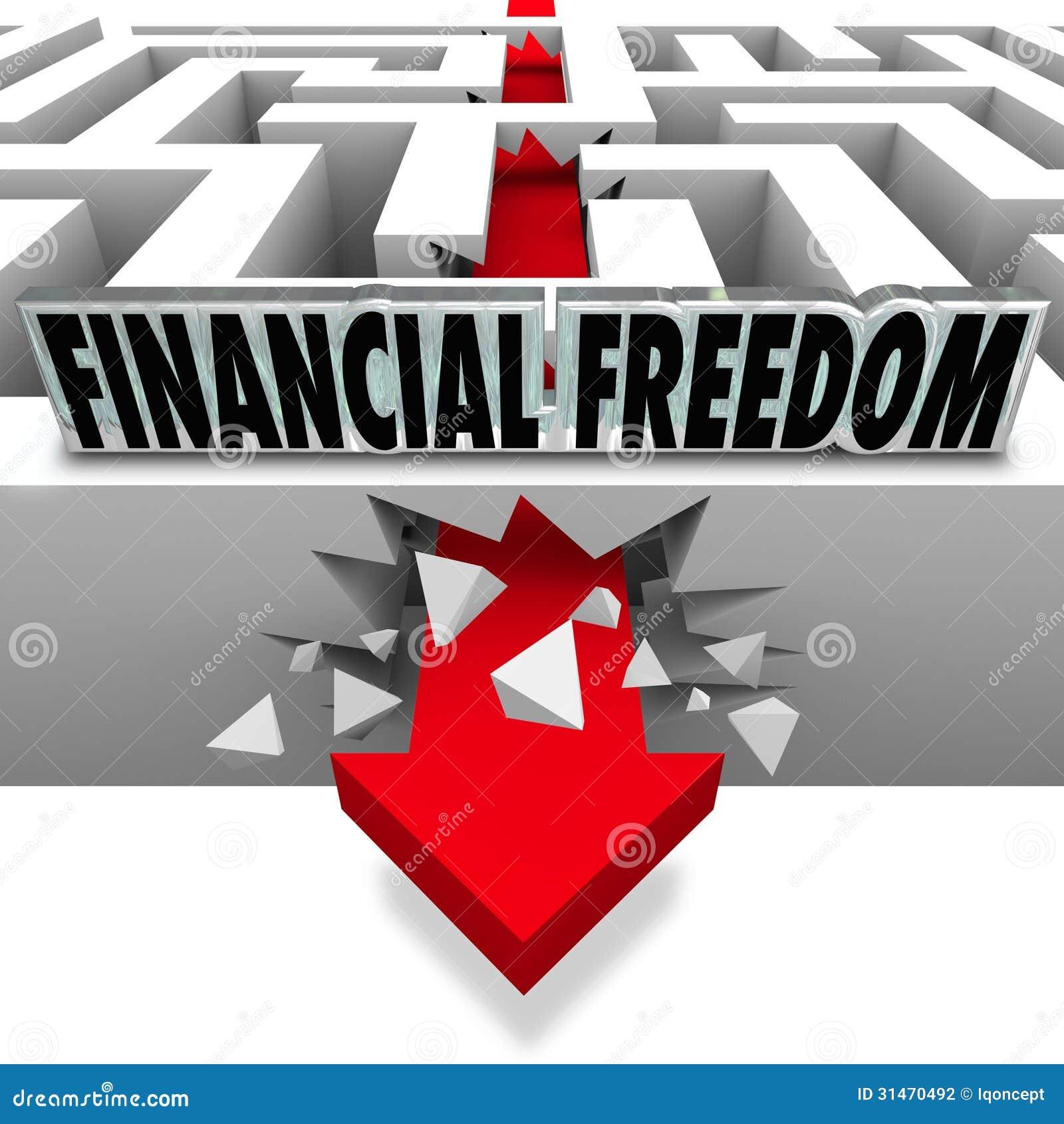 Coupure financière de liberté par des factures de faillite de problèmes d argent