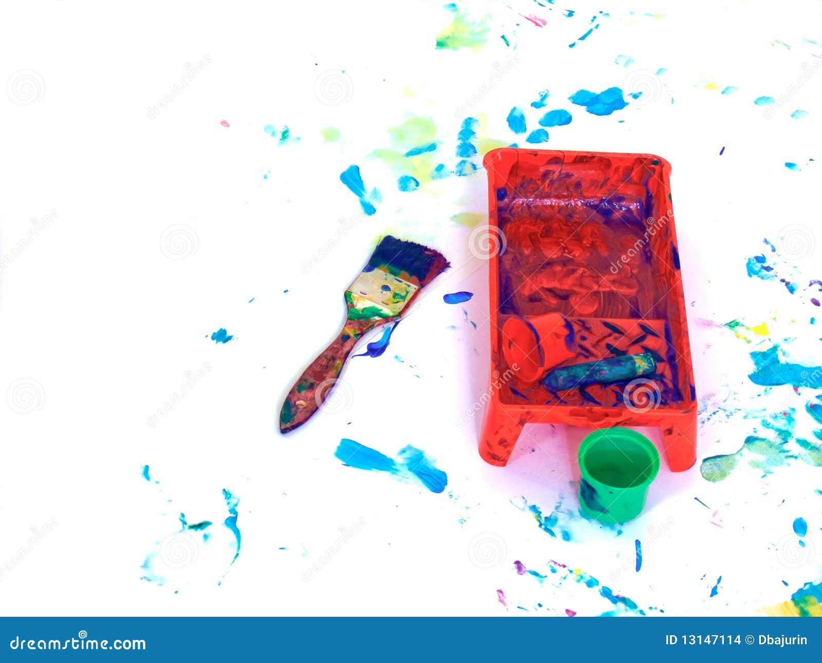 Cour de jeu de peinture de main d 39 enfants illustration stock illustration du d corez enfants - Peinture main enfant ...