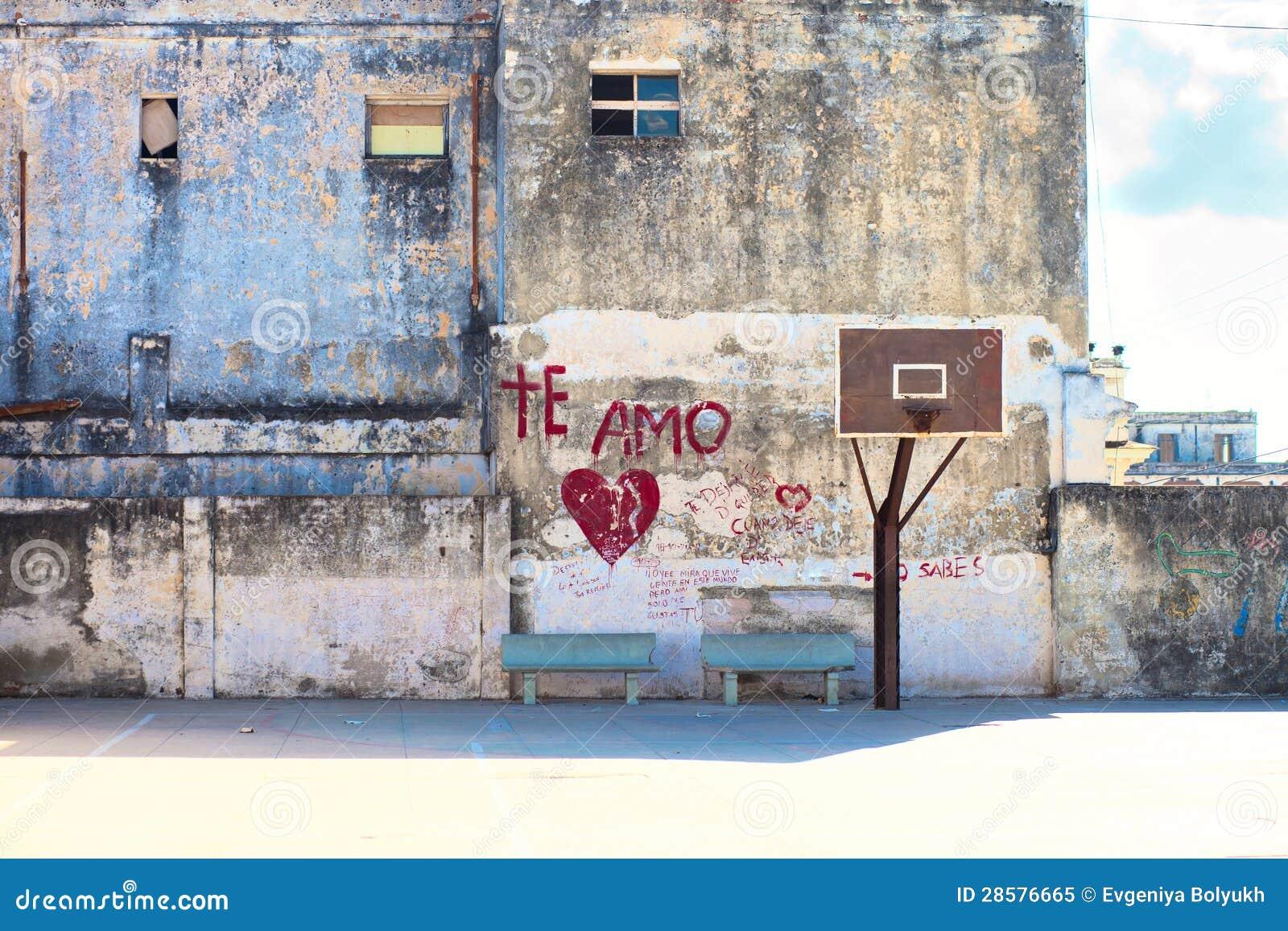 Cour de rue de basket-ball