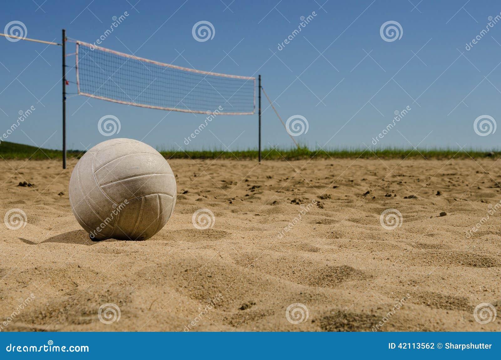 Cour de volleyball de plage
