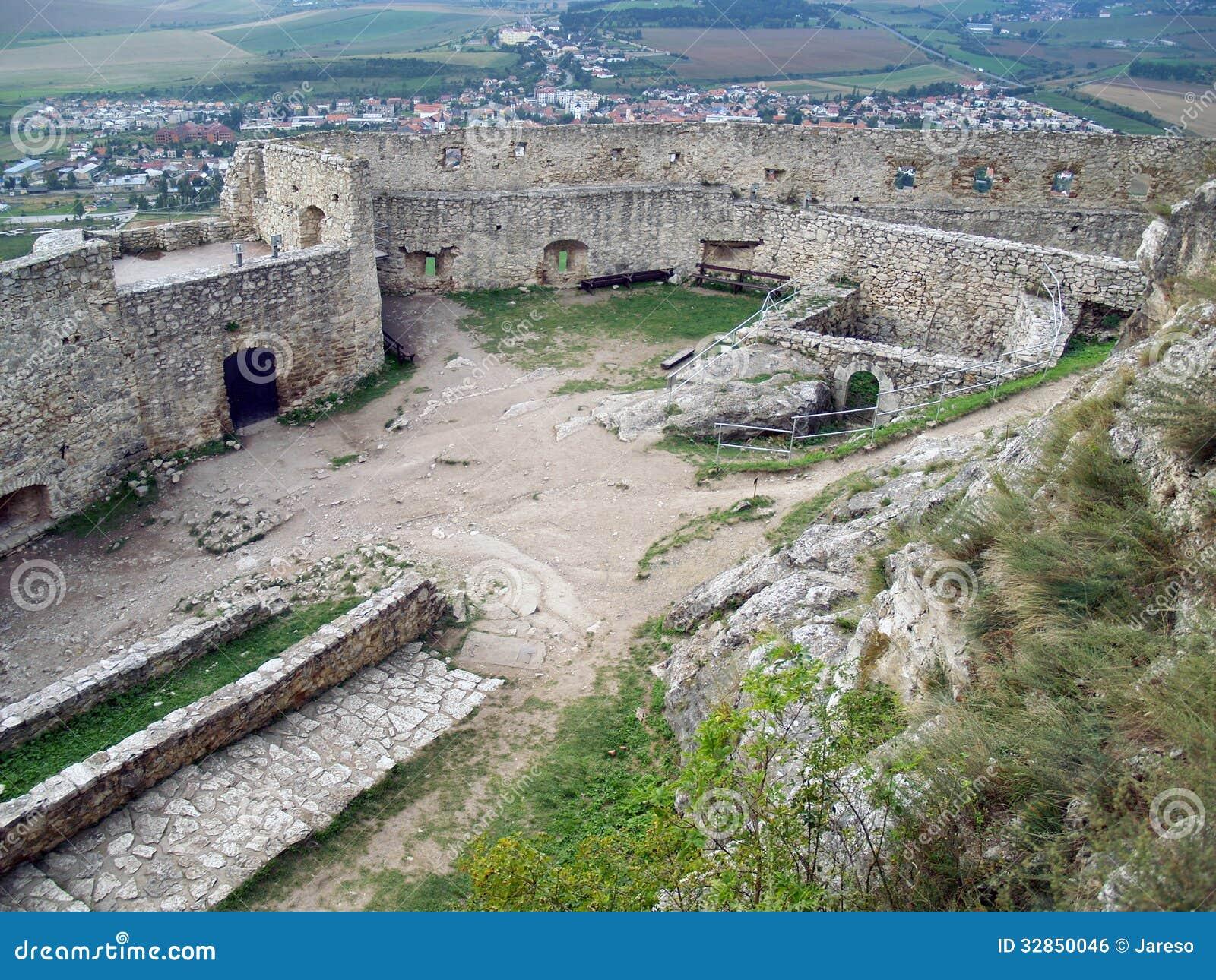 Cour supérieure de château de Spis