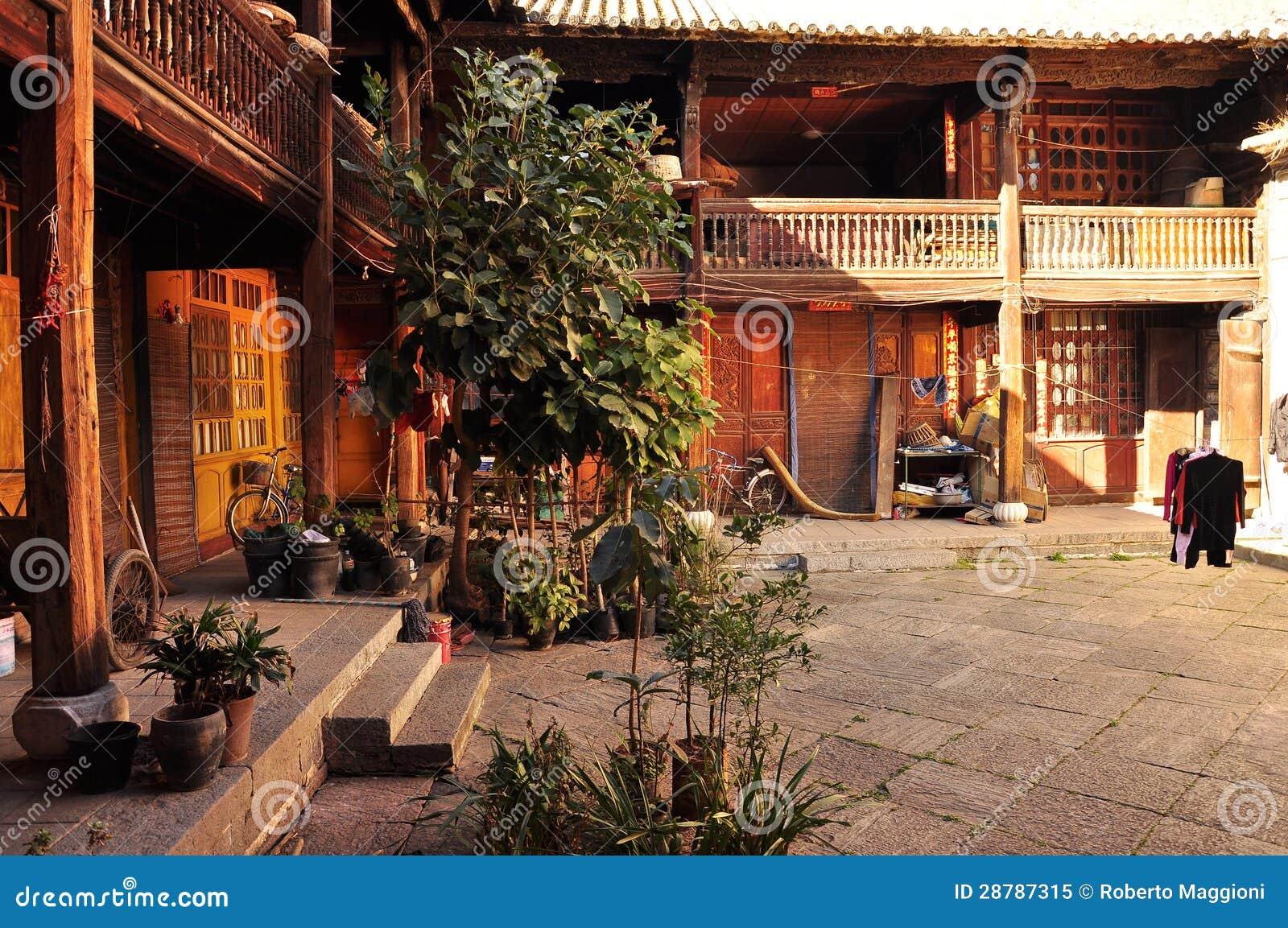 Cour Traditionnelle Chinoise De Maison Image Stock Image Du Maison Traditionnel 28787315