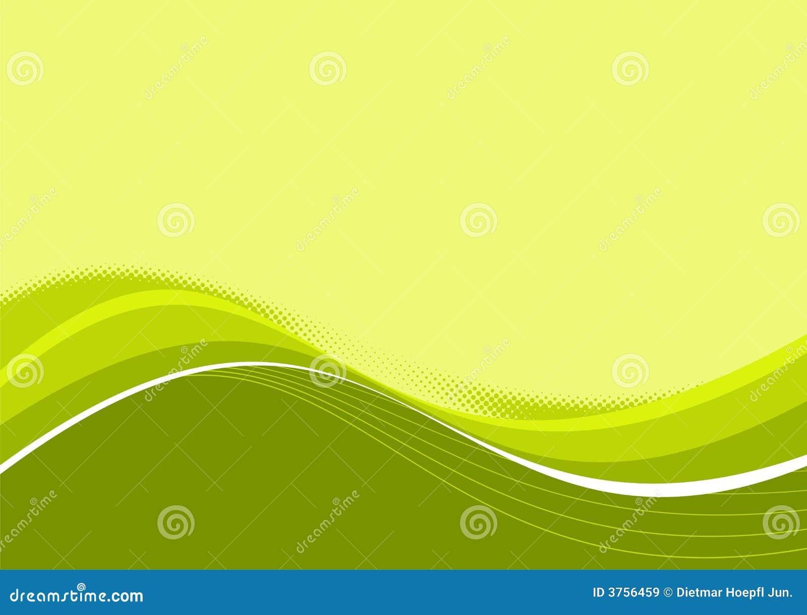 Courbes en pastel vertes