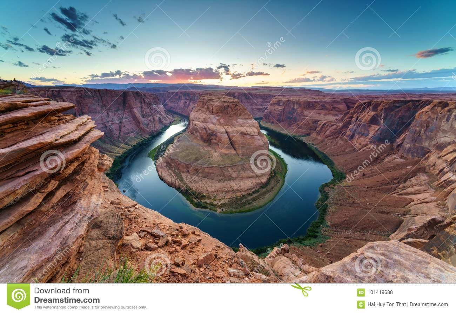Courbure de chaussure de cheval, le fleuve Colorado en page, Arizona Etats-Unis
