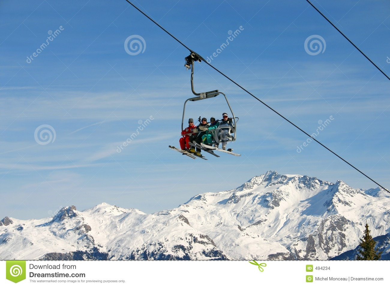 Courchevel chairlift