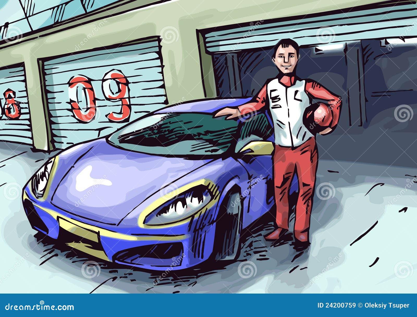 Coureur et son véhicule