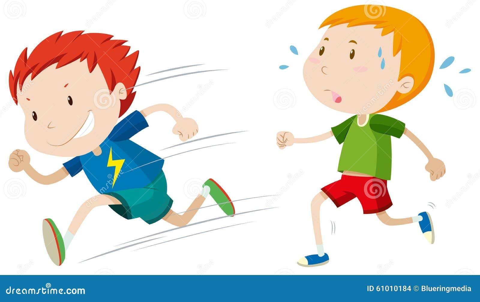 Coureur rapide et coureur lent illustration de vecteur illustration du rapide activit 61010184 - Coureur dessin ...