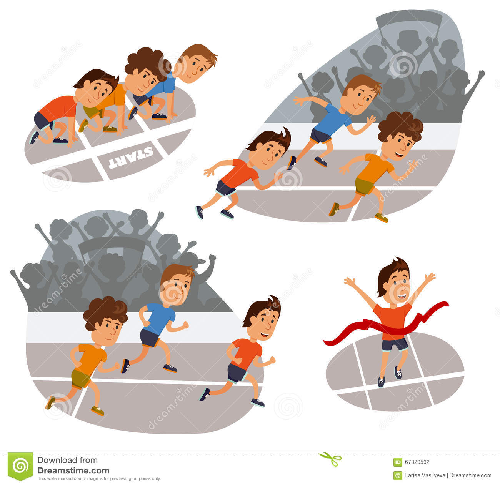 Kids Run Finish Line Animated Images