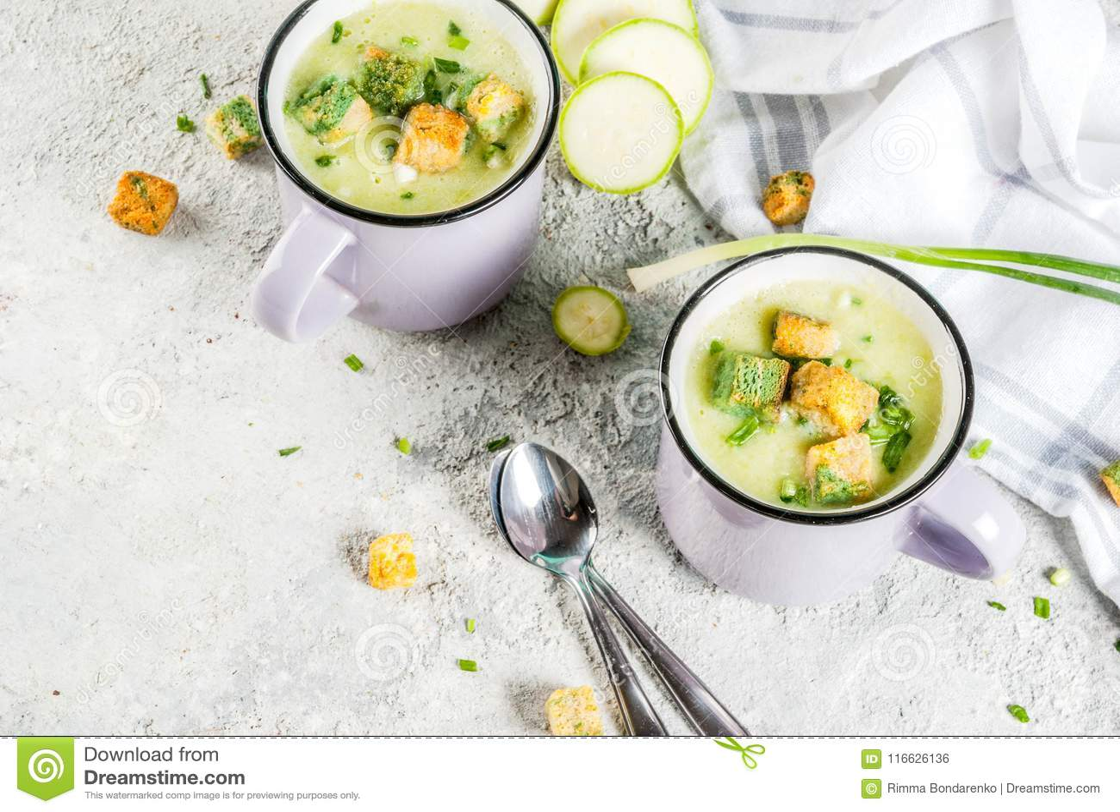 Courgette romige soep