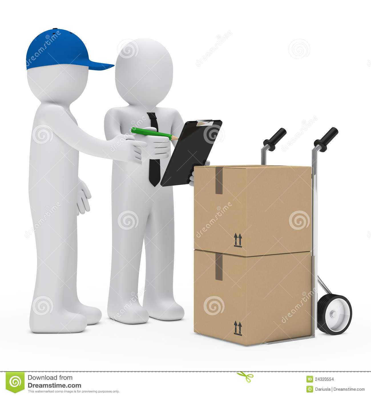Courier Bring Package Stock Images Image 24320554
