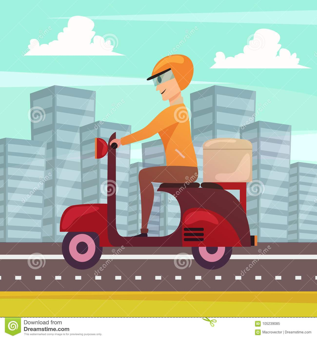 Courier Dispatch Rider Stock Illustrations – 8 Courier